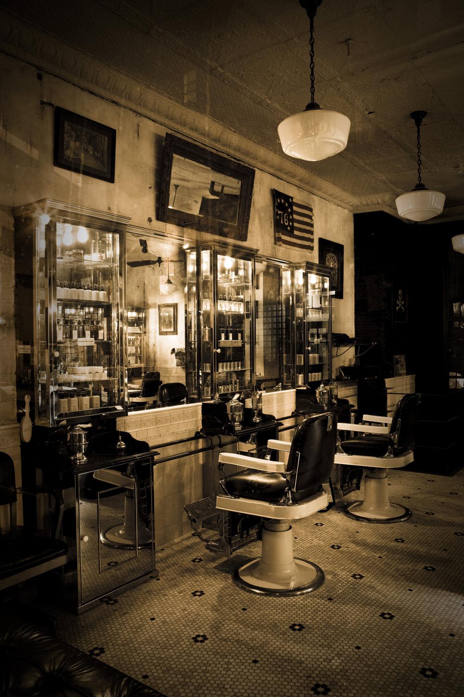 Vintage Barbershop Tommy Guns Salo...
