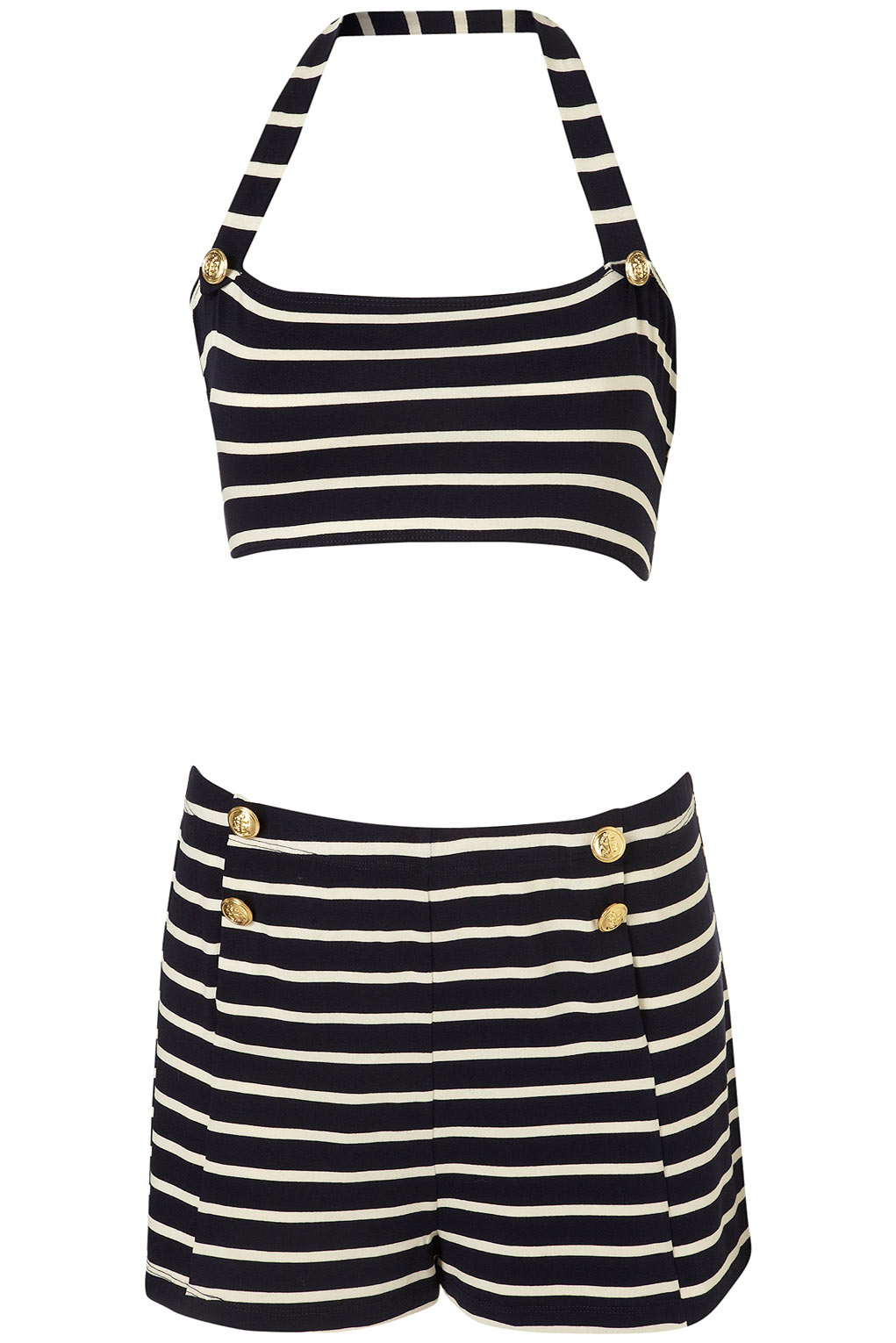 Retro Style Bathing Suits Part - 47: NAVY ...