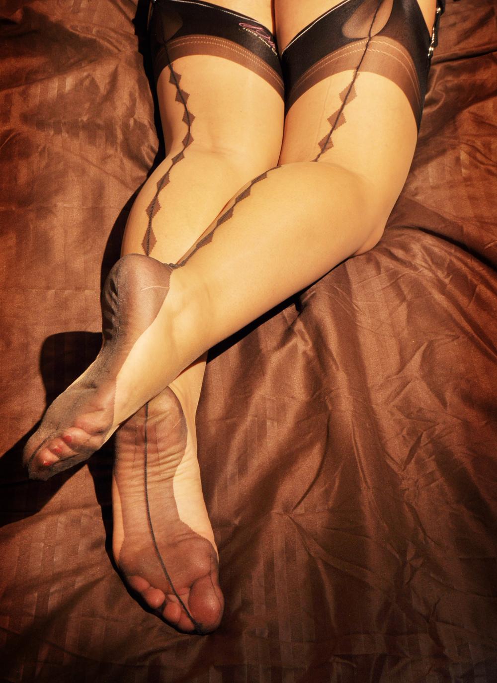 Vintage nylon stocking feet