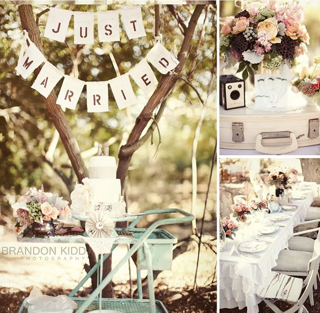 Vintage wedding decor romantic decoration for Decoration retro