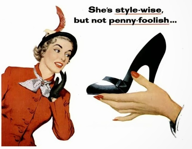 style wise vintage woman 1950s shoes